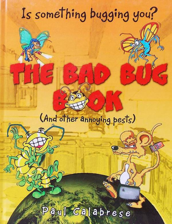 Book Poster featuring the drawing The Bad Bug Book Cover by Paul Calabrese
