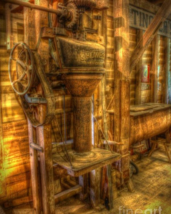 Mill Poster featuring the photograph The Bagging Machine by Dan Stone