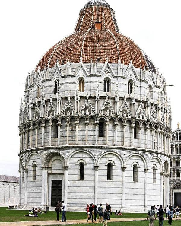 Baptistry Of St. John Poster featuring the photograph The Baptistry Of St. John by Brian Gadsby