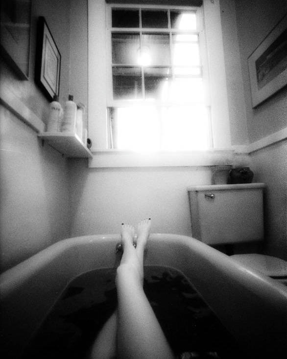 Nude Poster featuring the photograph The Bath by Lindsay Garrett
