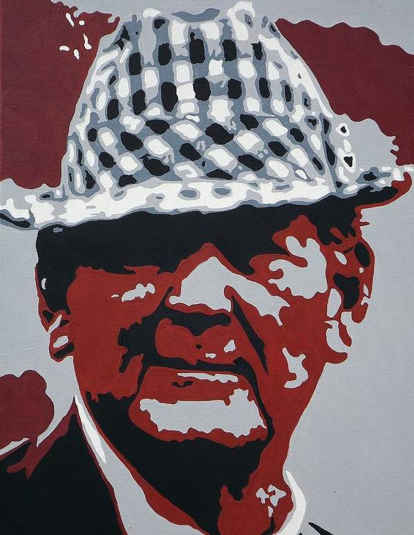 Bear Bryant Poster featuring the painting The Bear by Steve Cochran