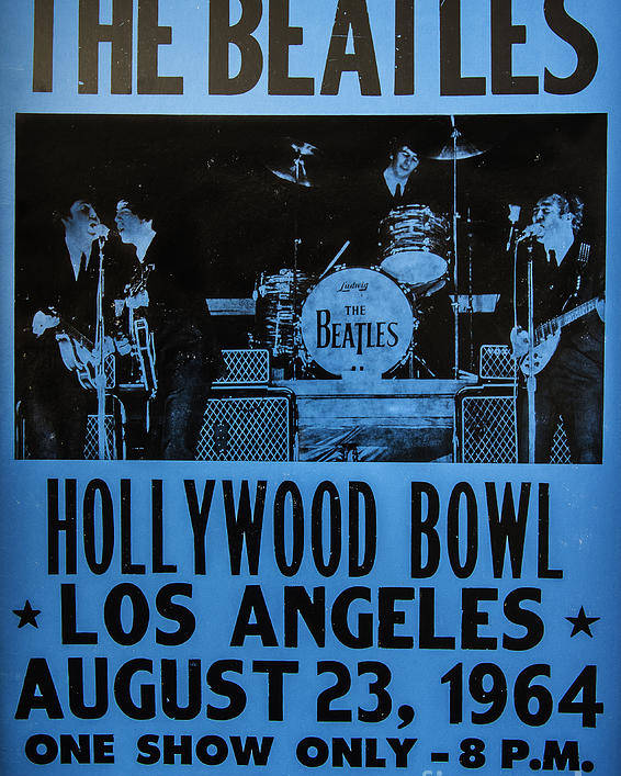 The Beatles Live At The Hollywood Bowl Poster featuring the photograph The Beatles Live At The Hollywood Bowl by Mitch Shindelbower