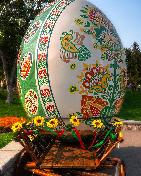 Kiev Poster featuring the photograph The Big Egg 3 by Matt Create