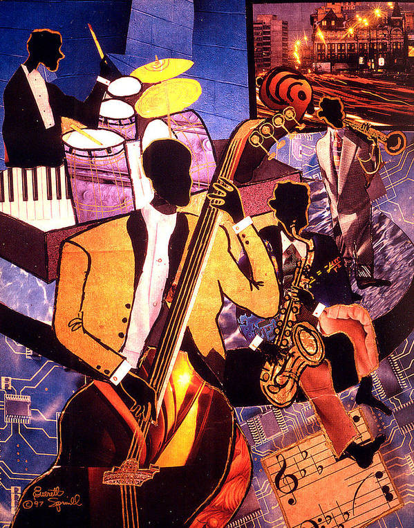 Everett Spruill Poster featuring the painting The Blues People by Everett Spruill