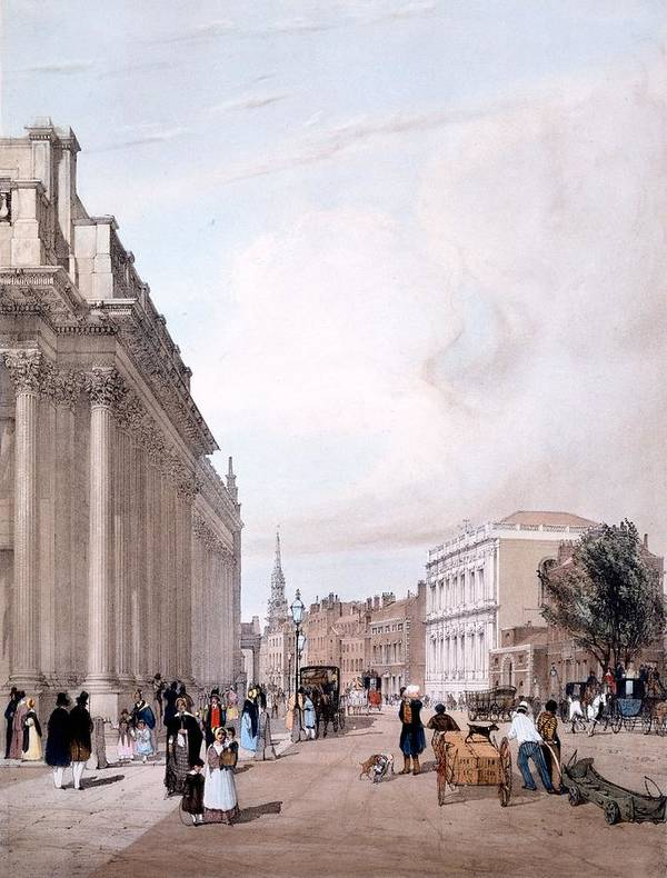 Board Of Trade Poster featuring the drawing The Board Of Trade, Whitehall by Thomas Shotter Boys