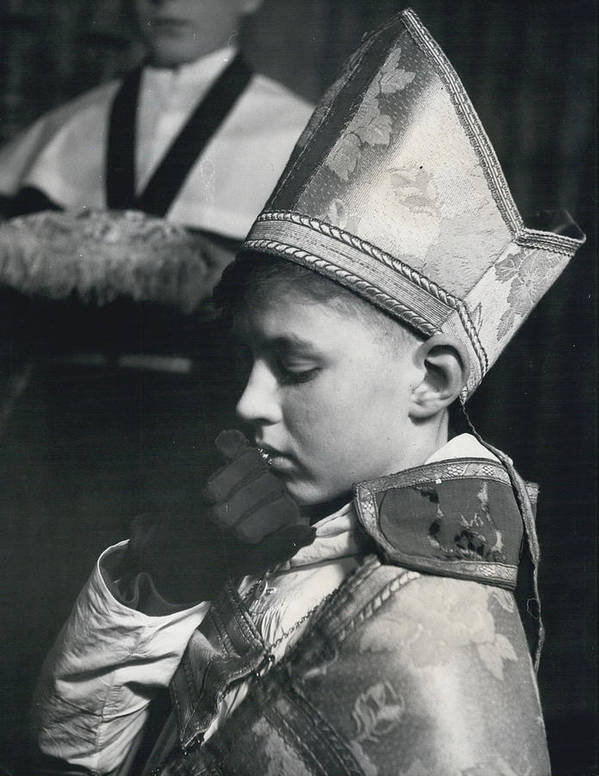 retro Images Archive Poster featuring the photograph The Boy Bishop Kisses The Ring by Retro Images Archive