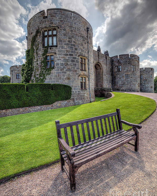 Hdr Poster featuring the photograph The Castle Bench by Adrian Evans
