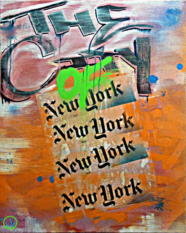 Graf Poster featuring the painting The City Of New York by Lost Breed Art