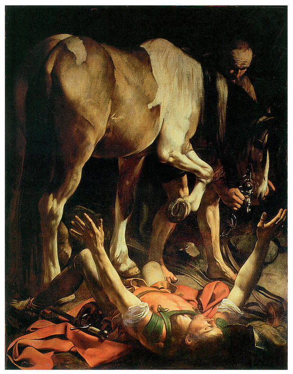 Caravaggio Poster featuring the painting The Conversion Of St. Paul by Caravaggio