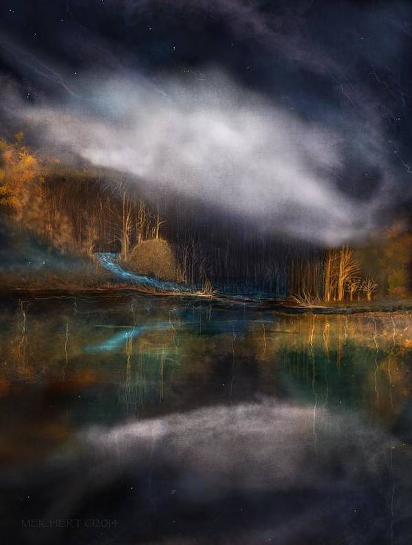 Landscape Poster featuring the digital art The Cove by Mary Eichert