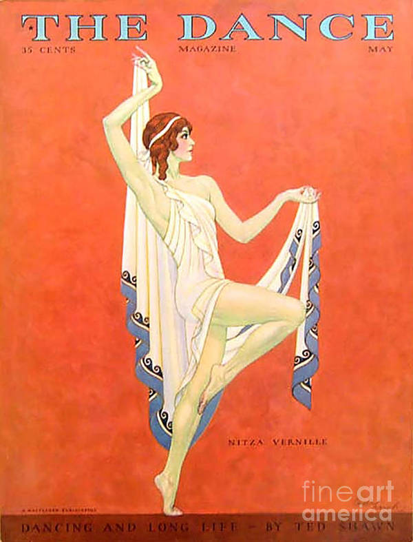 Covers Poster featuring the drawing The Dance 1929 1920s Usa Nitza Vernille by The Advertising Archives