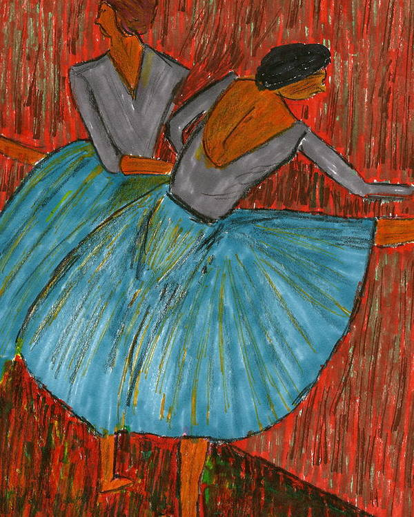 Dancers Poster featuring the mixed media The Dancers by John Giardina