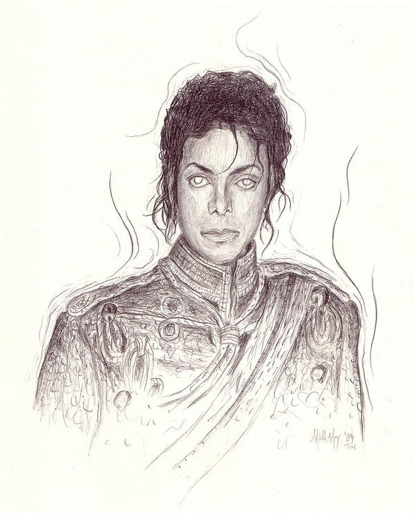 Michael Jackson Poster featuring the drawing The Day After by Michael Morgan