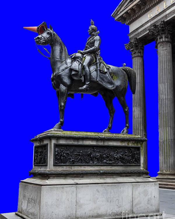 Art Poster featuring the photograph The Duke Of Wellington Goma Blue by John Farnan