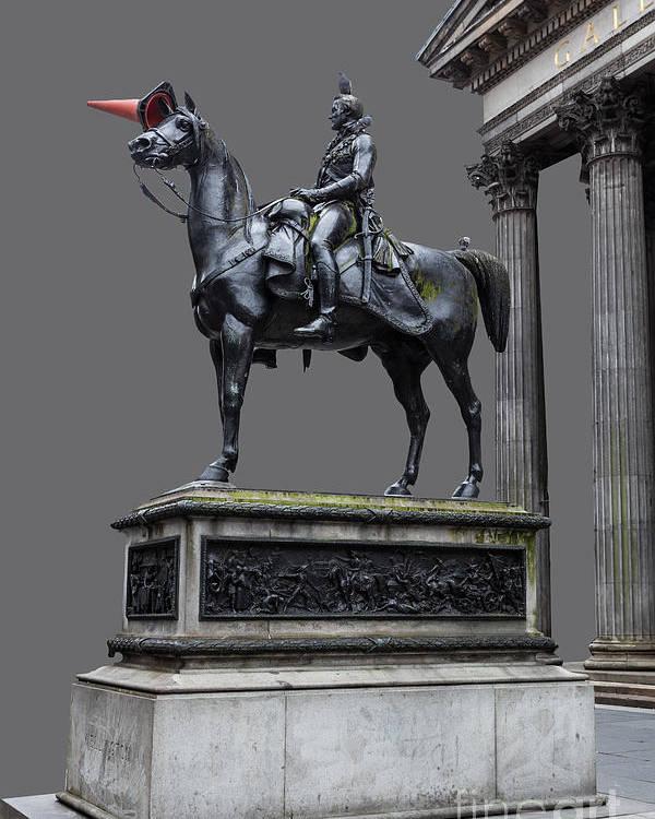 Art Poster featuring the photograph The Duke Of Wellington Goma Grey by John Farnan