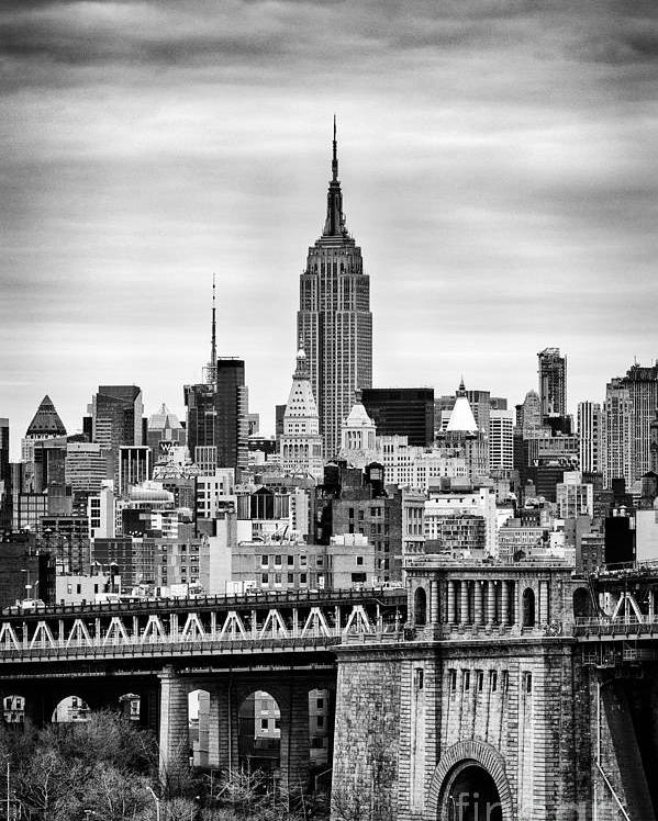 New York Canvas Poster featuring the photograph The Empire State Building by John Farnan