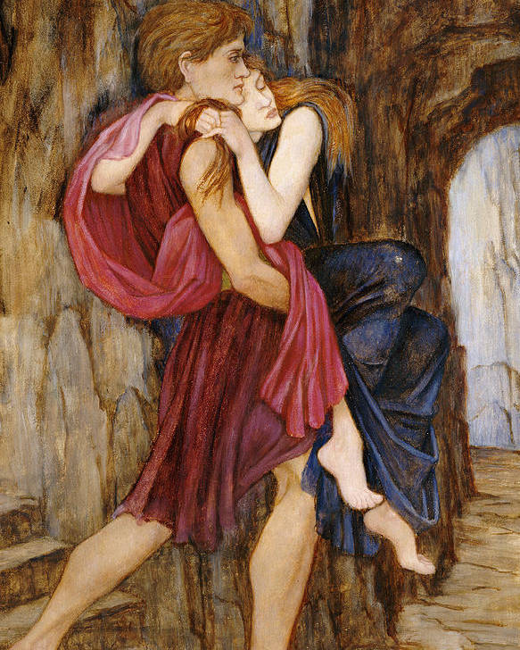 Escape Poster featuring the painting The Escape by John Roddam Spencer Stanhope