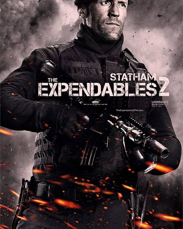 3b9c7929 The Expendables 2 Poster featuring the photograph The Expendables 2 Statham  by Movie Poster Prints