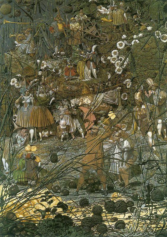 The Fairy Feller Master Stroke Poster featuring the digital art The Fairy Feller Master Stroke by Richard Dadd