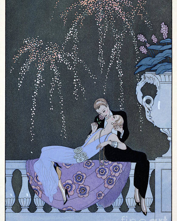 Le Feu Poster featuring the painting The Fire by Georges Barbier