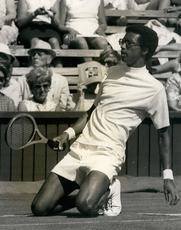 retro Images Archive Poster featuring the photograph The First Dai Of The Wimbeddon Tennis Tournament Arthur by Retro Images Archive