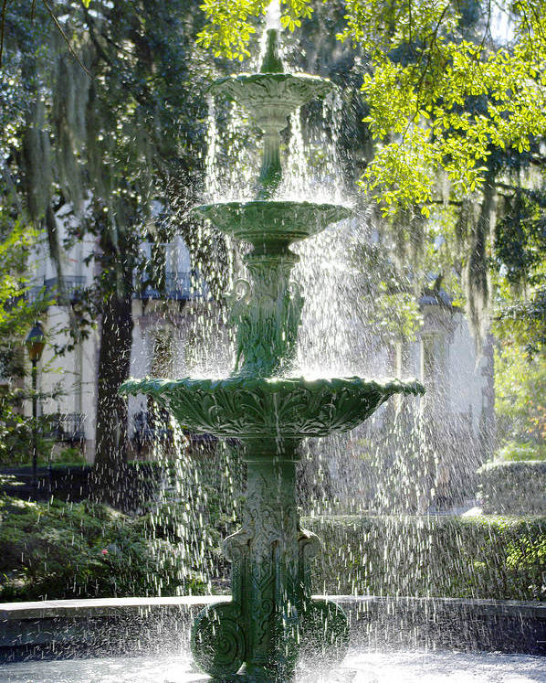 Fountain Poster featuring the photograph The Fountain by Mike McGlothlen