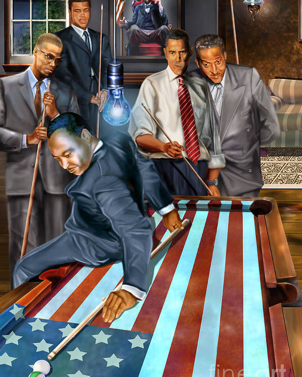 Abraham Lincoln Poster featuring the painting The Game Changers And Table Runners by Reggie Duffie