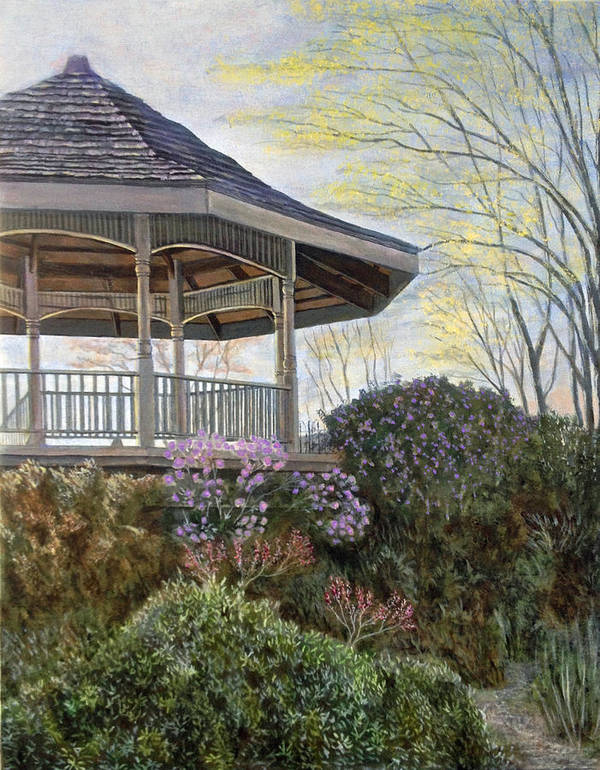 Landscape Poster featuring the painting The Gazebo by Mr Dill
