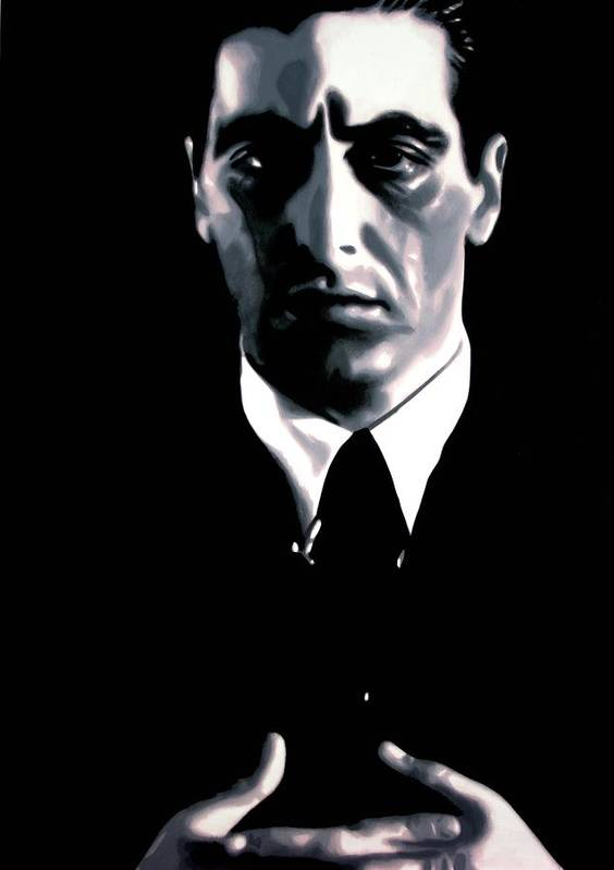 Ludzska Poster featuring the painting The Godfather by Luis Ludzska