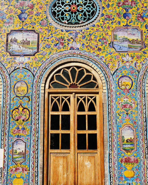 Iran Poster featuring the photograph The Golestan Palace In Tehran Iran by Robert Preston