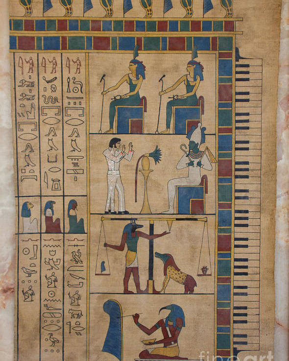 Egypt Poster featuring the painting The Graceland Papyrus by Richard Deurer