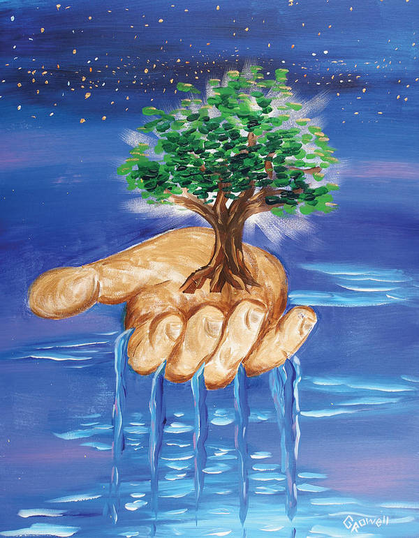The Hand Of The Lord Poster featuring the painting The Hand Of The Lord by Gary Rowell