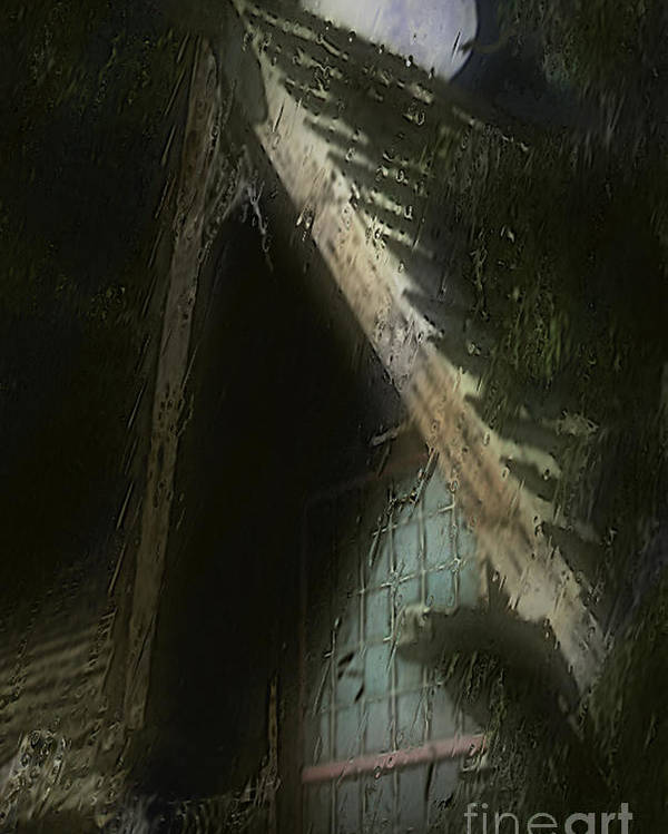 House Poster featuring the painting The Haunted Gable by RC DeWinter