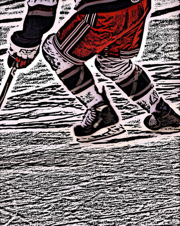 Hockey Poster featuring the photograph The Hockey Player by Karol Livote