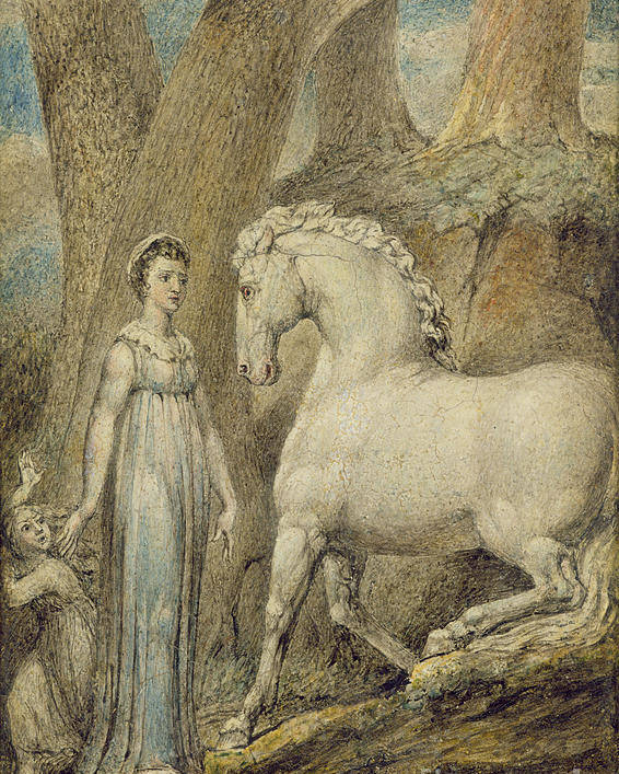 Woodland Poster featuring the painting The Horse by William Blake