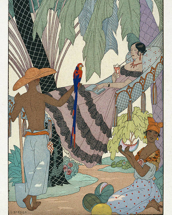 La Belle Indolente Poster featuring the painting The Idle Beauty by Georges Barbier