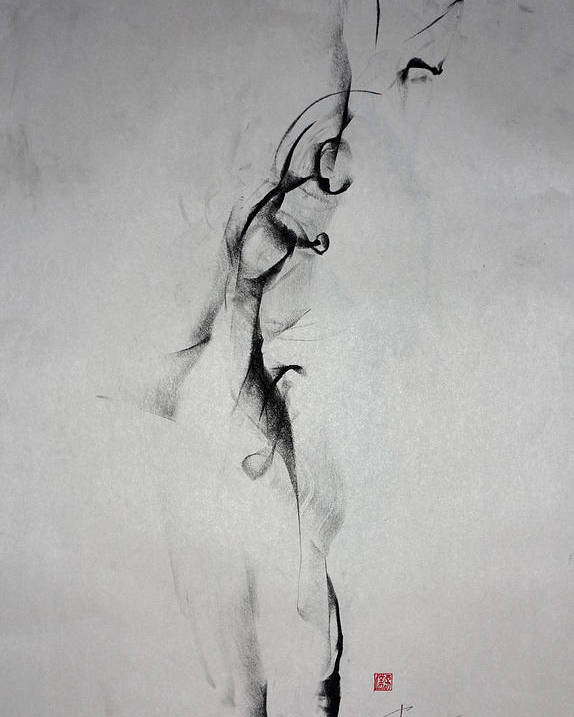 Sensuality Poster featuring the drawing The Interesting Notion Of Self by John Arthur Ligda