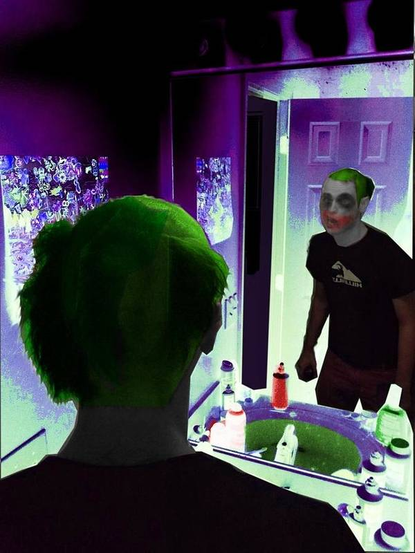 Joker Poster featuring the photograph The Joker In Me by Andrew Kaupe