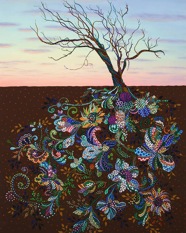 Tree Poster featuring the painting The Journey by James W Johnson
