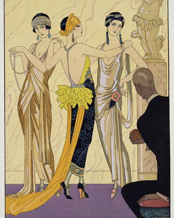 Le Jugement De Paris Poster featuring the painting The Judgement Of Paris by Georges Barbier