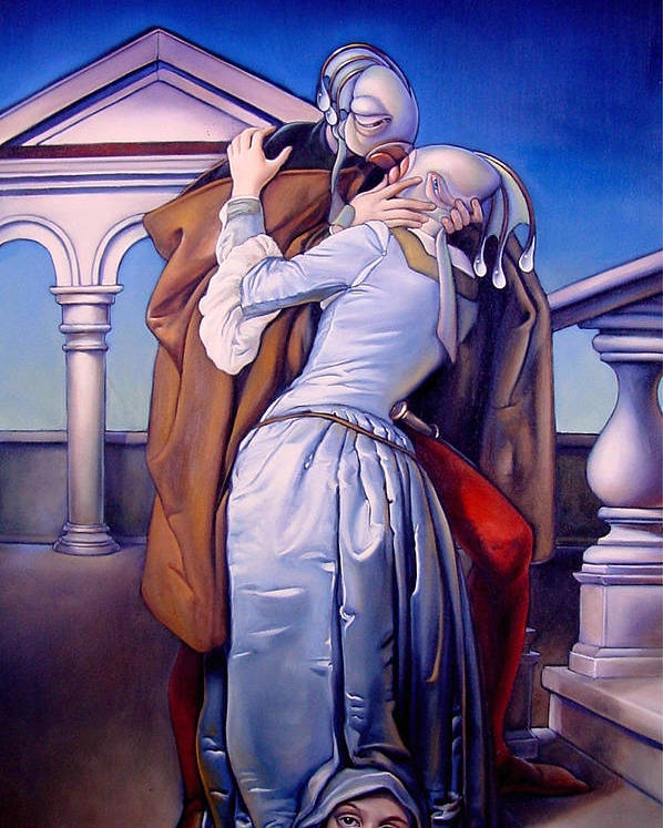 Spell Poster featuring the painting The Kiss Of Unrequited Love by Patrick Anthony Pierson