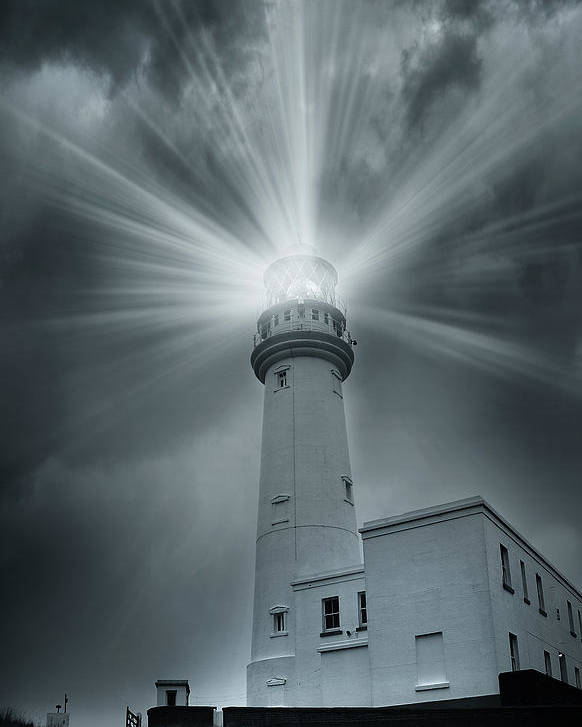 Artistic Poster featuring the photograph The Light House by Svetlana Sewell