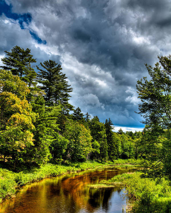 Adirondack's Poster featuring the photograph The Meandering Moose River by David Patterson