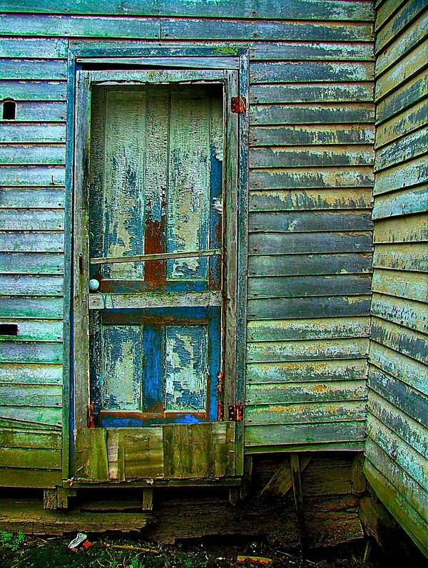 Old Doors Poster featuring the photograph The Old Blue Door by Julie Dant