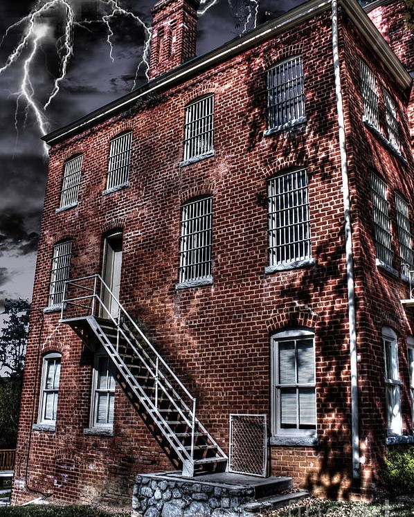 Abandoned Poster featuring the photograph The Old Jail by Dan Stone