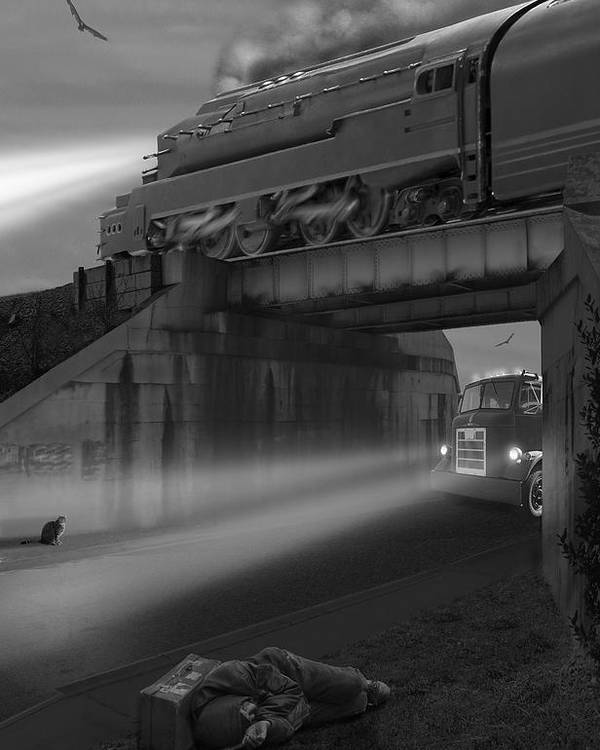Transportation Poster featuring the photograph The Overpass by Mike McGlothlen