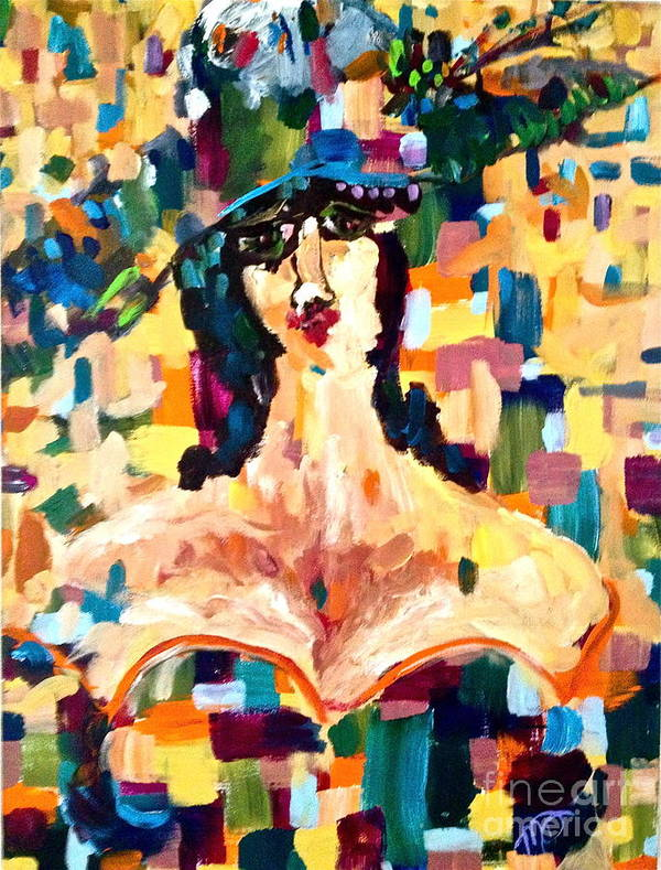 Woman Poster featuring the painting The Painted Lady by Michelle Dommer