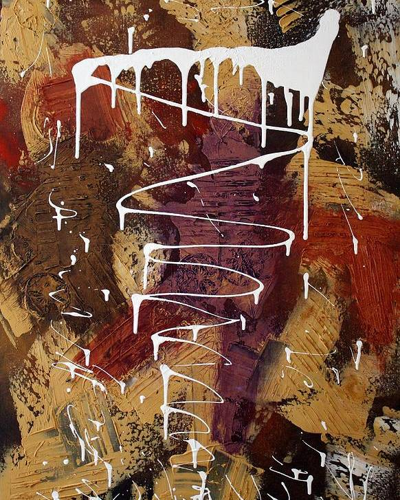 Earth Tone Abstract Poster featuring the painting The Painter's Keys by Laura Barbosa