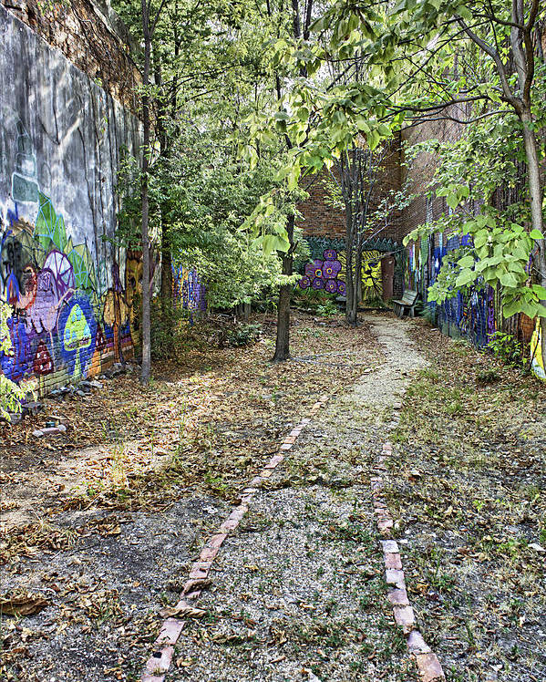 Graffiti Poster featuring the photograph The Path Of Graffiti by Jason Politte