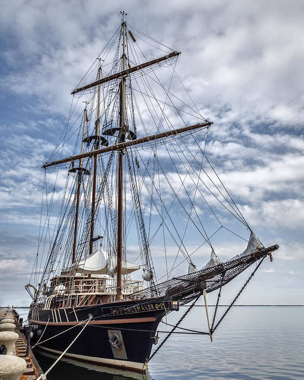 Peacemaker Poster featuring the photograph The Peacemaker Tall Ship by Dale Kincaid